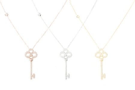Latelita London Large key necklace rosegold