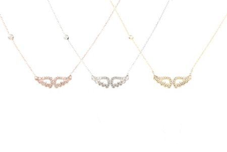 Latelita London Angle wing necklace gold
