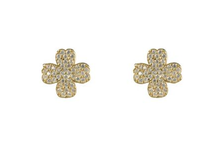 Latelita London Four leaf clover earring gold