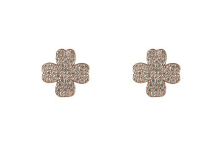 Latelita London Four leaf clover earring rosegold