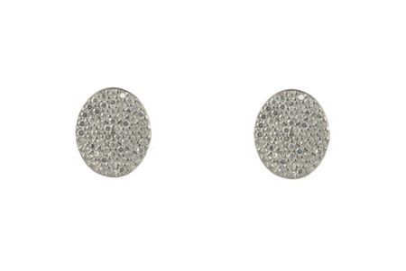 Latelita London Oval disc earring silver