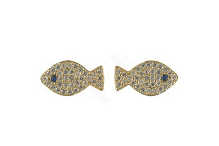 Latelita London Fish earring gold