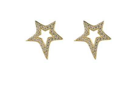 Latelita London Large star  earring gold