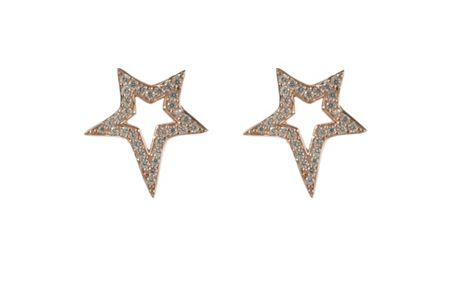 Latelita London Large star  earring rosegold