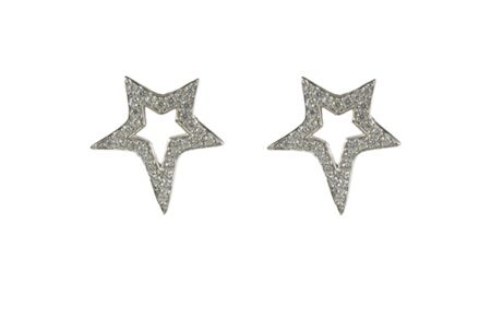 Latelita London Large star  earring silver
