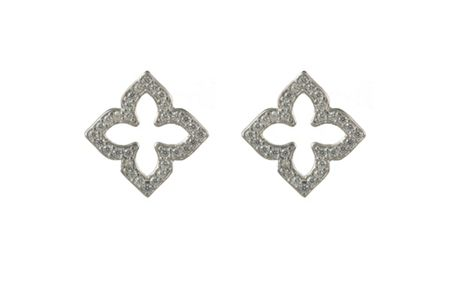Latelita London Open pointed clover earring silver
