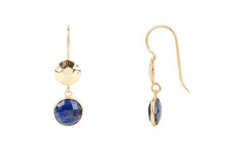 Latelita London Circle hammer earring lapis
