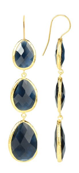 Latelita London Drop Earring Gold Sapphire