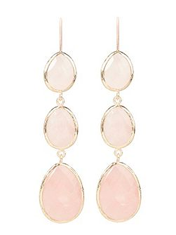 Earring Rosegold Rose Quartz