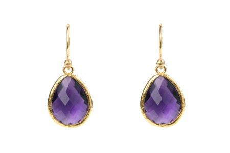 Latelita London Petite drop earring amethyst