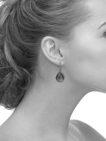 Latelita London Petite earring rosegold smokey