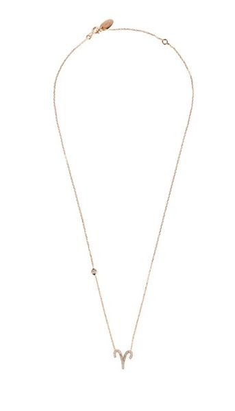 Latelita London Zodiac necklace rose gold aries