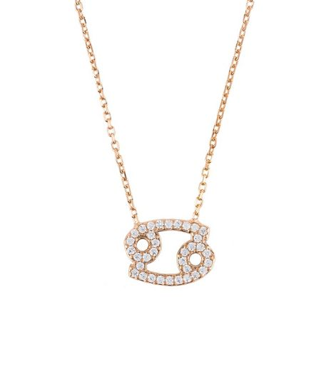 Latelita London Zodiac necklace rose gold cancer