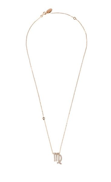 Latelita London Zodiac necklace rose gold virgo