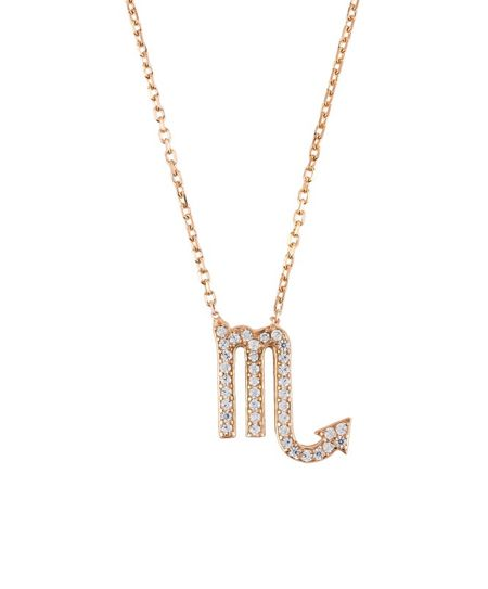 Latelita London Zodiac necklace rose gold scorpio