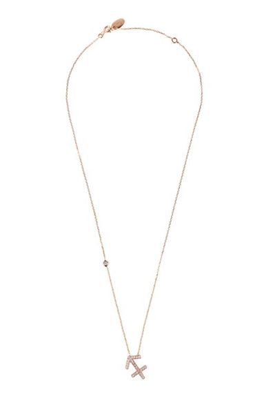 Latelita London Zodiac necklace rose gold sagittarius