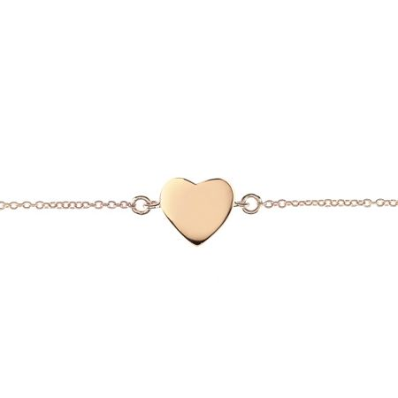 Latelita London Heart Bracelet Rose Gold