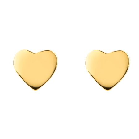 Latelita London Mini Heart Stud Earring Gold