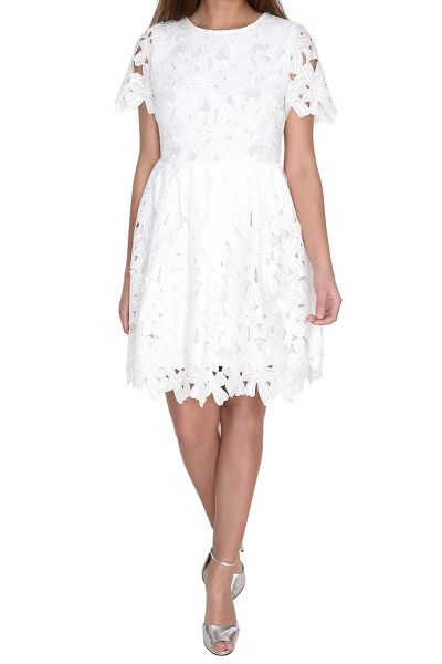 True Decadence Crochet Lace Skater Dress
