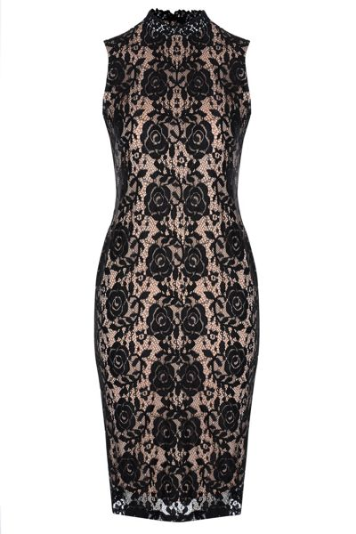 True Decadence High Neck Bodycon Dress