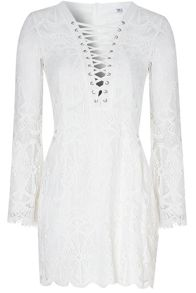 True Decadence Tie Up Lace Dress
