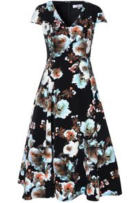 True Decadence Floral Prom Dress