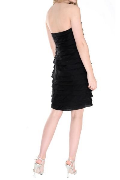True Decadence Tiered Organza Bandeau Dress