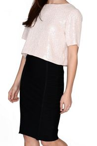 True Decadence Cropped Sequin Top