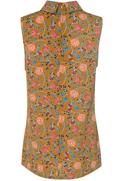 Glamorous Floral Printed High Neck Cami Top