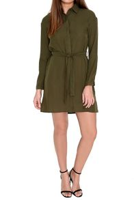 Alice & You Tie Waist Shirt Dress