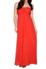 Alice & You Ruched Halterneck Maxi Dress