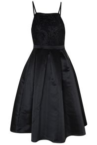 True Decadence Contrast Lace Prom Dress