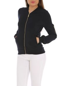 Ballentina Ponti Bomber with Zip Detail on Sleeve