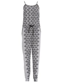 Jumpsuit in Textured Knit Fabric