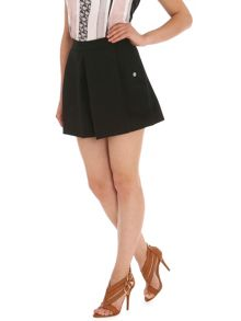 Pleated Front Ponte Shorts