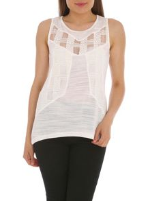 Vest Tunic with Lace Front