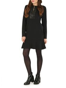 Ballentina Long Sleeve Peplum Hem Dress