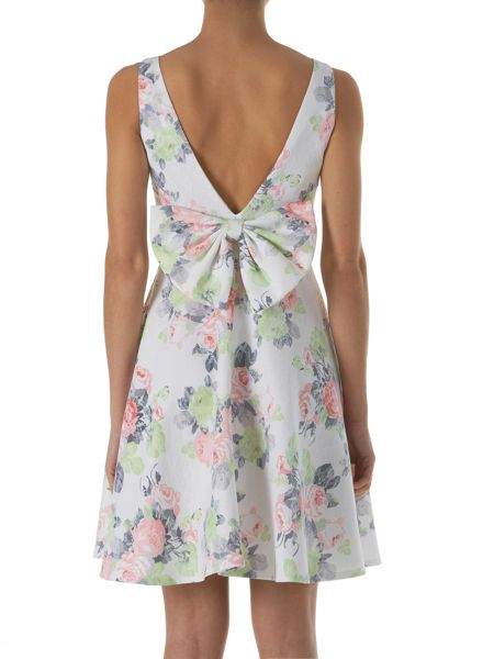 Zibi London Floral Bow Back Afternoon Dress