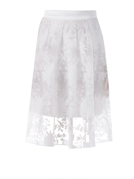 Zibi London Floral Organza Satin Skirt
