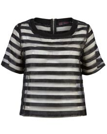 Zibi London Stripe Organza Top
