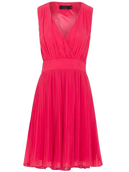 Zibi London Chiffon Pleated Dress