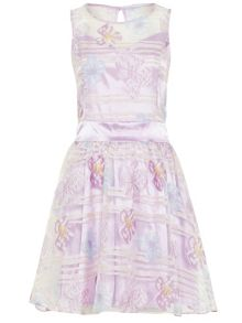 Zibi London Organza Floral Satin Dress