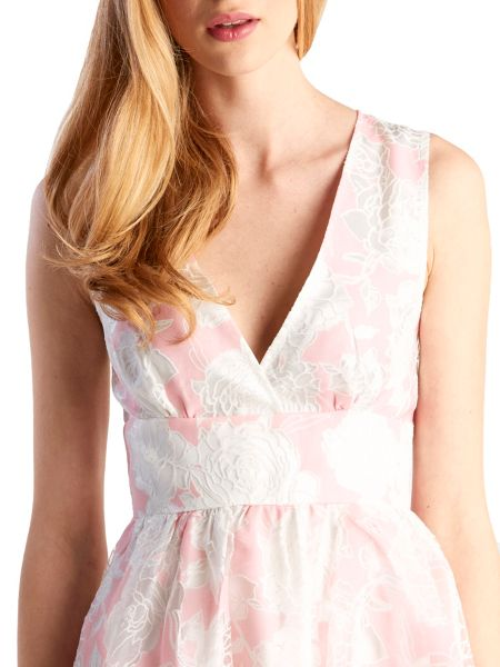 Zibi London Organza Devore Floral Dress