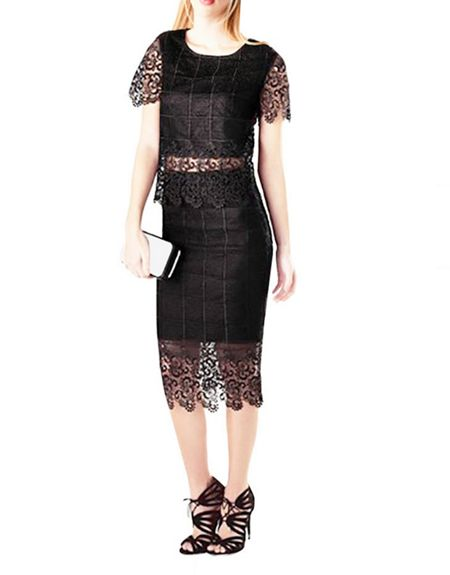 Zibi London Grid Lace Skirt