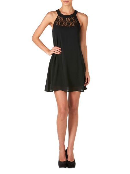 Zibi London Lace Neck Swing Dress