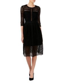 Zibi London Mix Lace Dress
