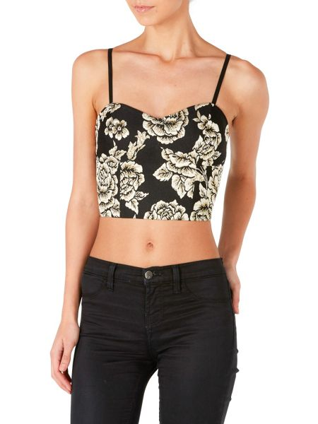 Zibi London Embroided Crop Top