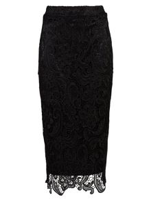 Zibi London Lace Pencil Skirt