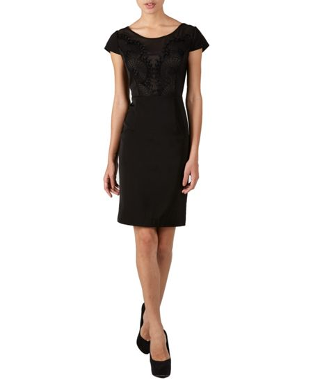 Zibi London Circle lace shift dress