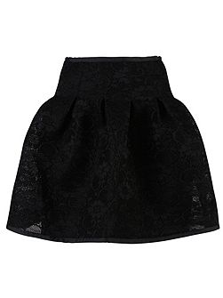 Bonded Lace Puff Skirt